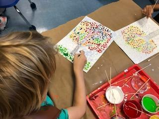 1st Graders Make Pointillism Pop